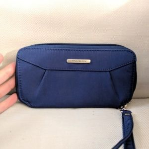 Travelon RFID Clutch Wallet - Navy Blue